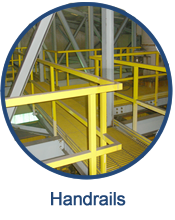 GEF engineers, designs, fabricates and installs a variety of fiberglass handrails and safety rails.
