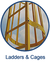 GEF engineers, designs and installs a variety of fiberglass ladders and cages for most any application