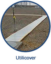 GEF's Utilicovers trench cover systems are strong and durable fiberglass covers which install easily and can be quickly removed by one person for trench access.