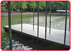 SAFPLANK® interlocking decking system is an excellent surface material for marina walkways and docks.