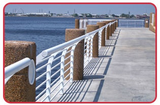 Strongrail® architectural handrail systems are strong, attractive, and able to withstand corrosive saltwater environments with ease.