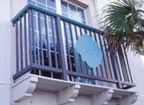 At the LaQuinta Inn in Galveston, Texas, FRP handrail was chosen.